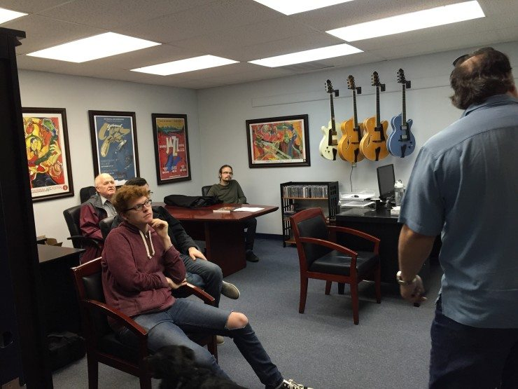 Winthrop University Students visit Benedetto Guitars in Savannah, GA