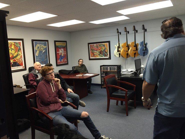 Winthrop University Students visit Benedetto Guitars in Savannah, GA