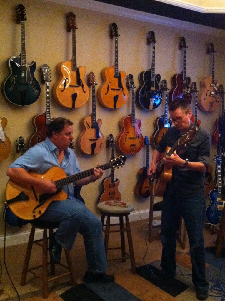 Howard and Craig Wagner perform a duet  w/Dr. Jack Harris during Nashville CAAS show.